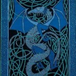 Celtic English Dragon Blue 70 x 104