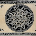 Celtic Circular Knot Cream and Black 70 x 104