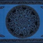 Celtic Circular Knot Blue 70 x 104