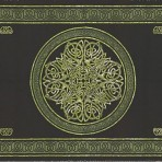 Celtic Circular knot in Cross 70 x 104 Green