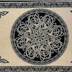 Celtic Circular Knot Cream and Black 88 x 104