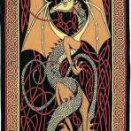 Celtic English Dragon Gold 70 x 104