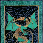 Celtic English Dragon Green 88 x 104
