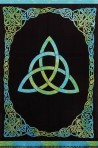Triquetra Tie-Dyed Green and Blue 88 x 104